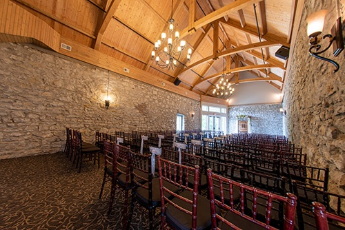 Andre's Old Stone Chapel Wedding Venue church seating