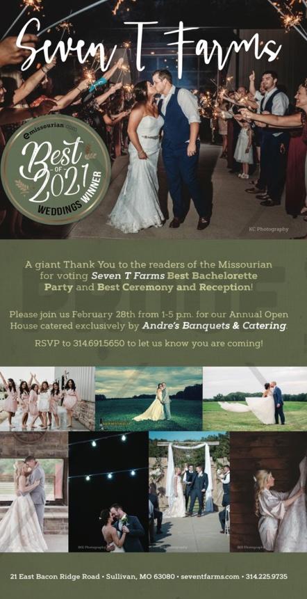 Andre's Seven T Farms Wedding Winner 2021
